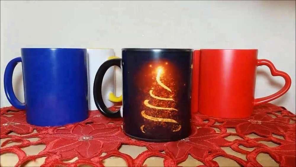 Tazas Magicas Color, Rojo, Azul Y Negro