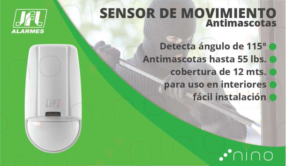 SENSOR MOVIMIENTO INFRARROJO ANTIMASCOTAS