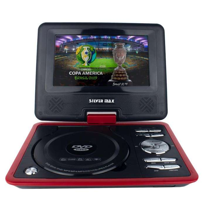 Dvd Con Tv Tdt Silvermax 7'' Portatil Usb Micro Sd Hd Ligero