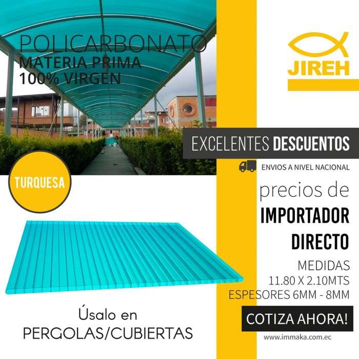 Policarbonato Jireh 8mm en Guayaquil de 11.80 x 2.10mts, Techos, Alucobond, Acrílico, Cielo raso PVC