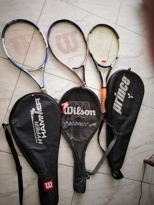 2 Raquetas Wilson 1 Prince