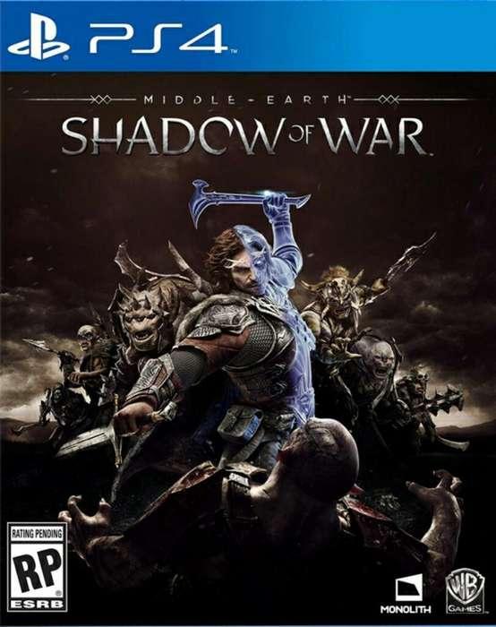 Oferta Shadow Of War Ps4 Stock Sellado