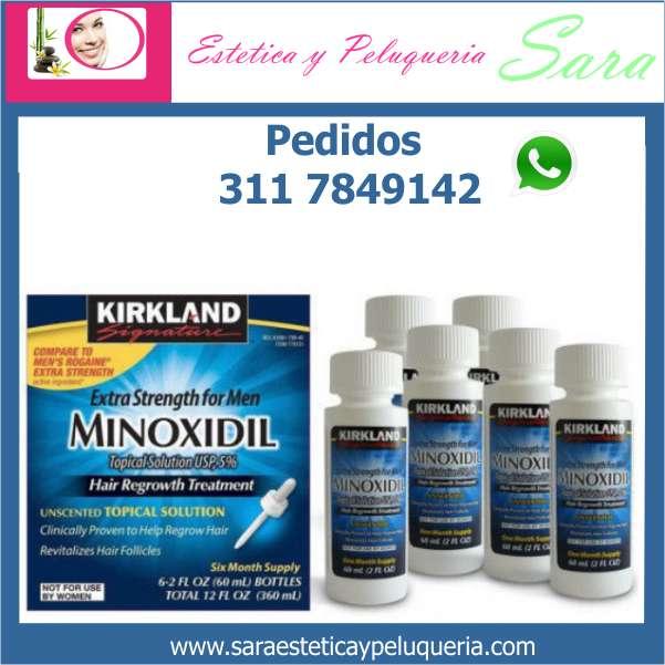 MINOXIDIL SOLUCION TOPICA al 5 KIRKLAND USA ORIGINAL PARA CRECIMIENTO CABELLO Y BARBA DETIENE LA CAIDA