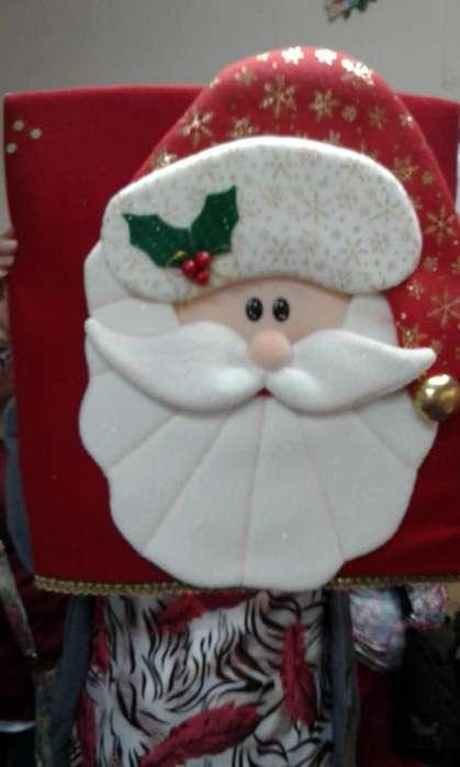 Forro de silla navideño