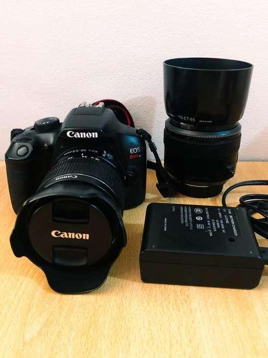 Cámara Canon Eos T6 con 2 Objetivos