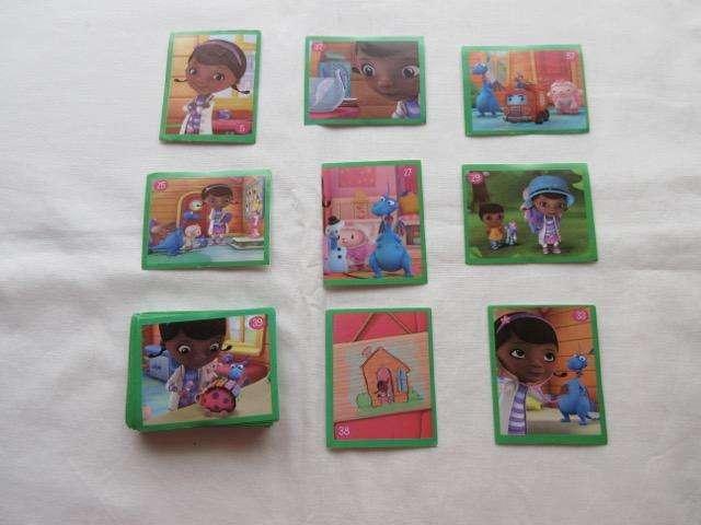 Lote de 83 figuritas de la Doctora Juguetes, variadas más 30 cartas de Doctora Juguetes, impecable!