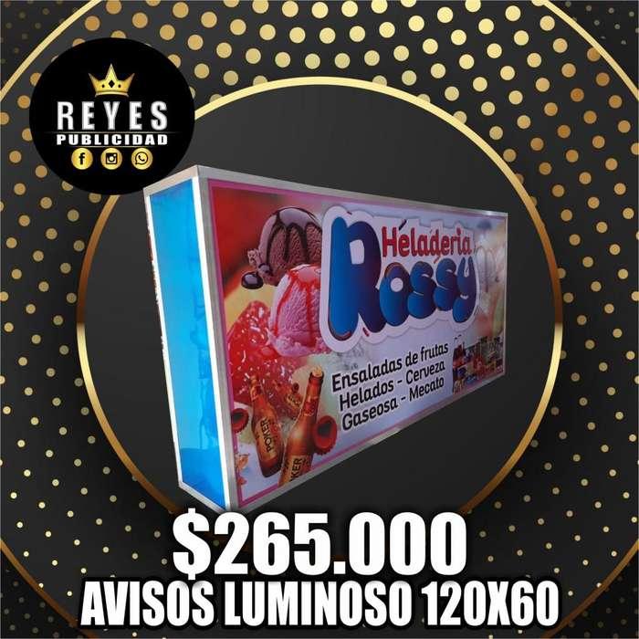 AVISOS LUMINOSOS CAJAS DE LUZ ESTRUCTURAS METALICAS INSTALACIONES PUBLICIDAD DISEÑIO FABRICACION E INSTALACION