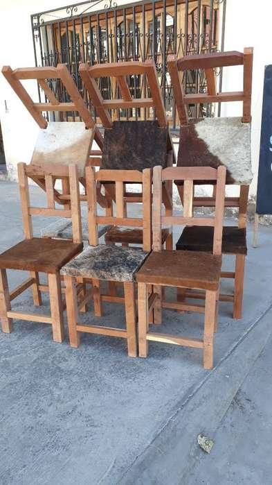 <strong>sillas</strong> de Algarrobo con Cuero