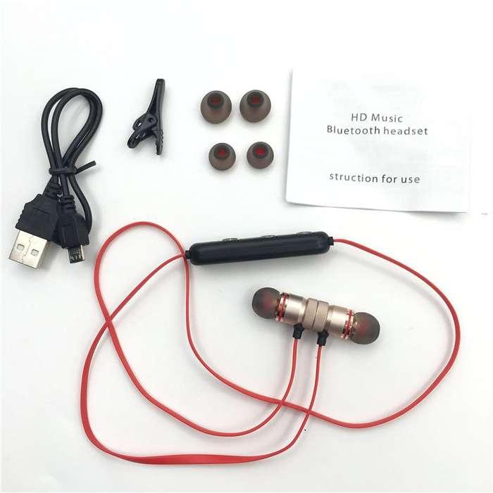 Auriculares inalámbricos Metal deportes magneticos caja