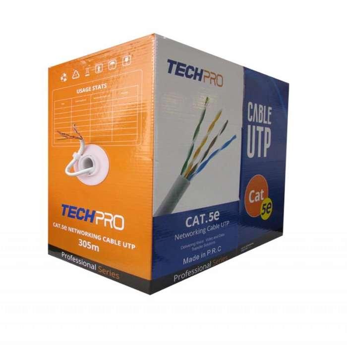 Caja de Cable UTP CAT 5E Gris 305 Metros / CCTV / Red / Datos