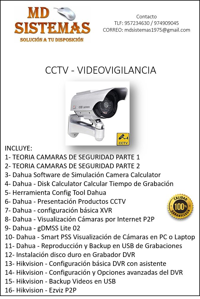 Video cursos CCTV