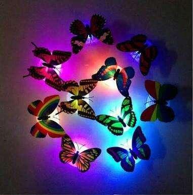 Led Mariposa Pegatinas Luz De La Noche