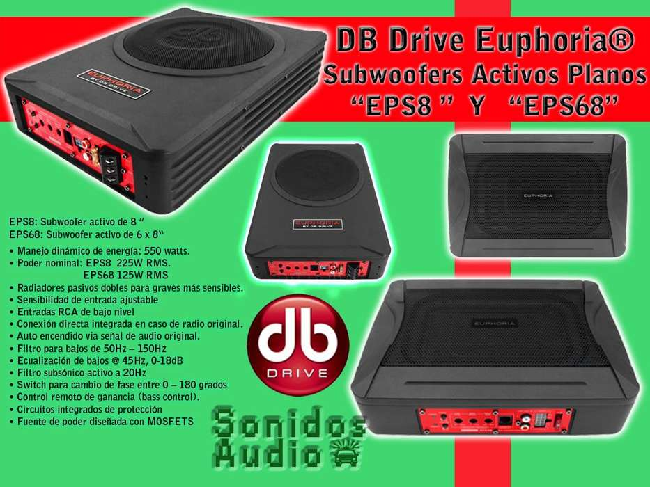 Cajas para Woofer, Woofers, Amplificadores, Kit de Cables.