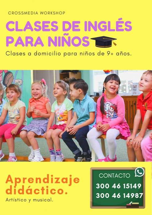 Clases de Ingles para niños a domicilio en Bogotá