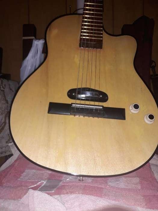 Guitarra Folk Chata Micrófono Importado