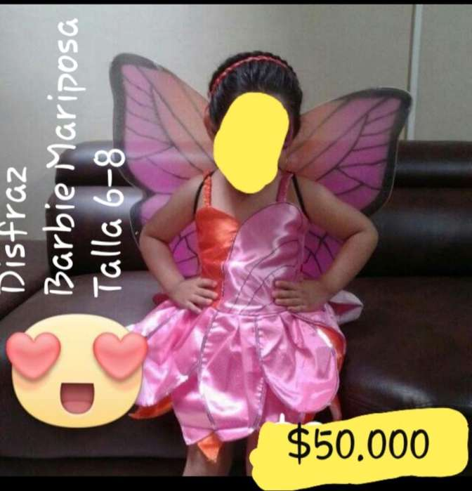 Disfraz Barbie Mariposa Niña Talla 6-8