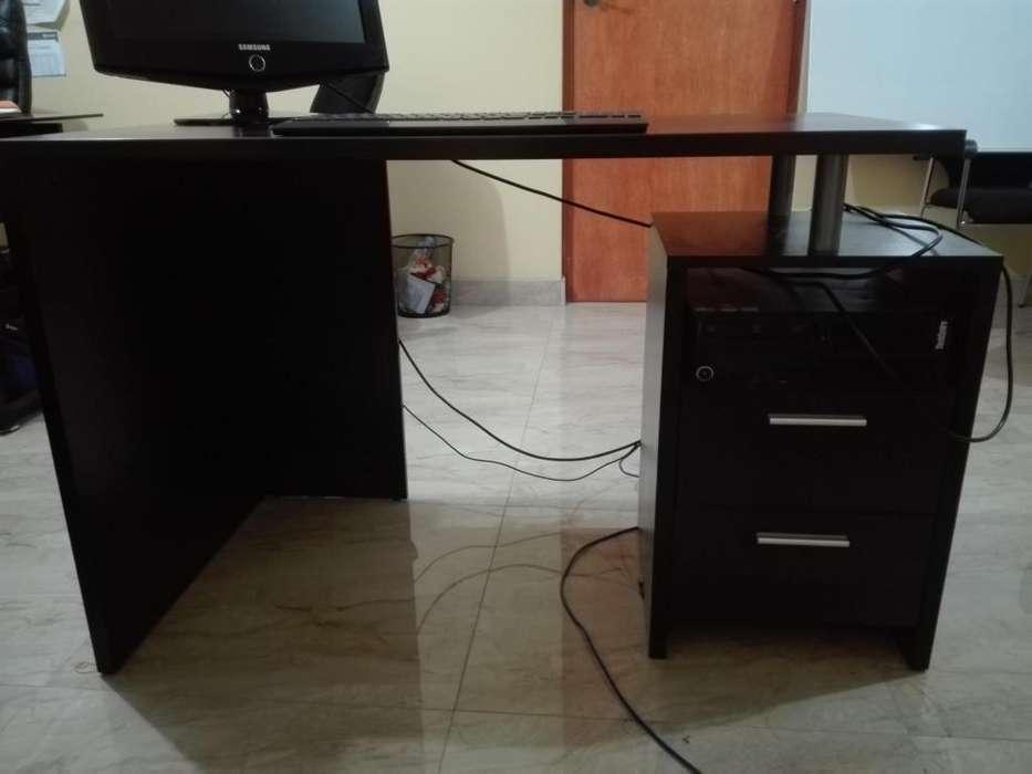 VENDO <strong>escritorio</strong> DE MELAMINE CON CAJONERAS