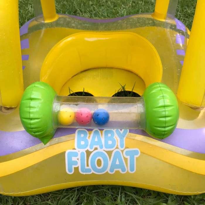FLOTADOR INFLABLE PARA BEBE CON TECHO INTEX BABY FLOAT