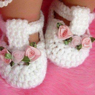 Zapatos tejidos a mano para bebe economicos