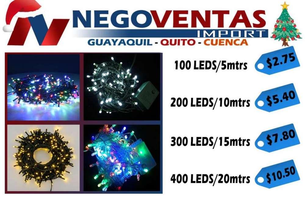 LUCES NAVIDEÑAS LINIALES DE 100 LED/ 5 MTS, 200 LED/ 10 MTS, 300 LED/ 15 MTS, 400 LED/ 20 MTS