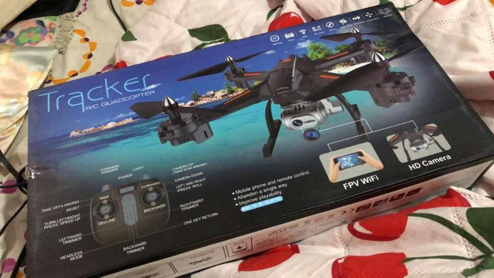 Dron Tracker Rc Quadcopter Blanco X2