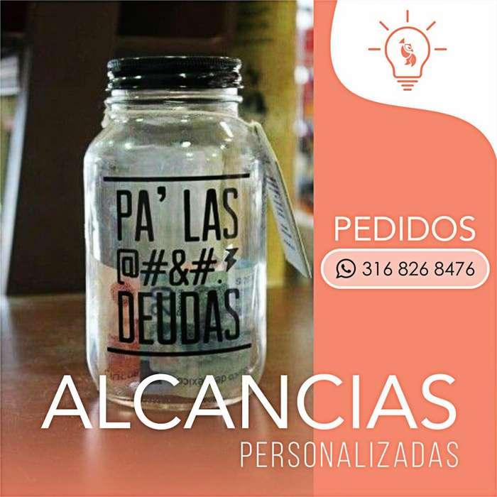 ALCANCIAS EN VIDRIO PERSONALIZADAS