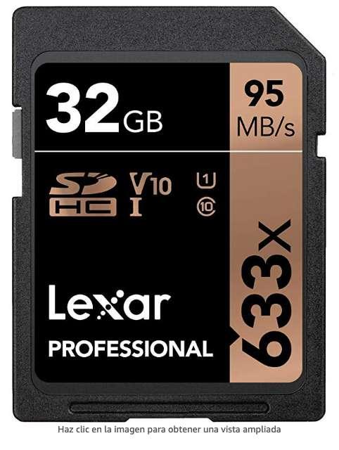Memoria Lexar Pro 32gb Sdhc 633x 95mb/s Originales