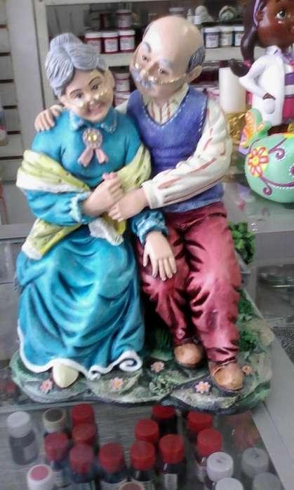 viejitos en ceramica