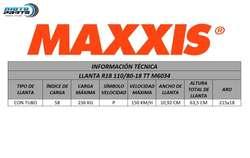 LLANTA MAXXIS Motocicleta R18 110/8018 M6034