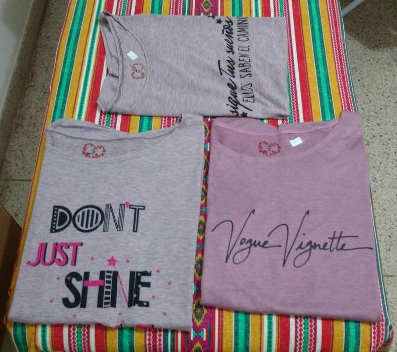 Remeras <strong>mujer</strong> Talle 5 Al 7