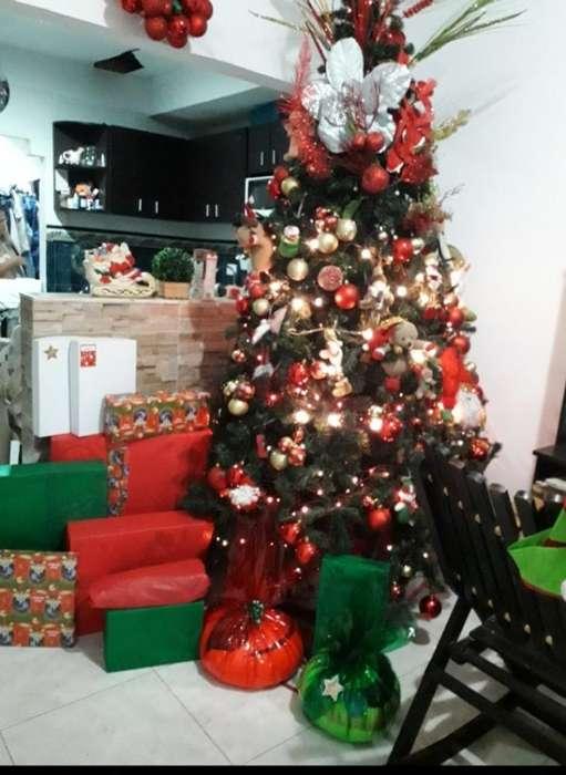 Hermoso Arbol de Navidad 2mt con Adornos