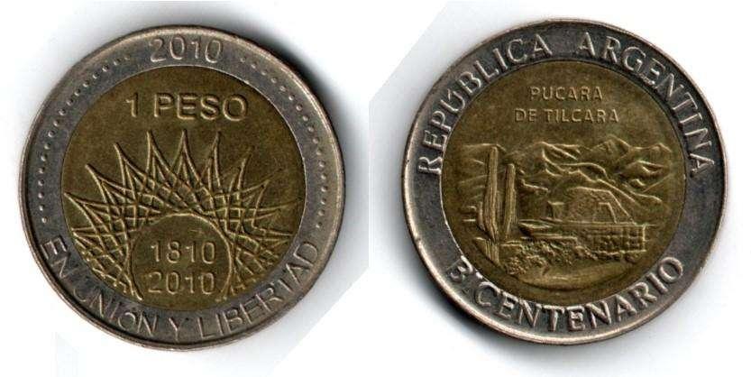 ARGENTINA. MONEDA. 1 PESO. 1810-2010. KM 159. PULCARA DE TILCARA. ESTADO 7 DE 10. VALOR 2700