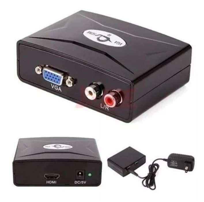Vga To Hdmi Tv 1080p Video Hd Convertidor Usado