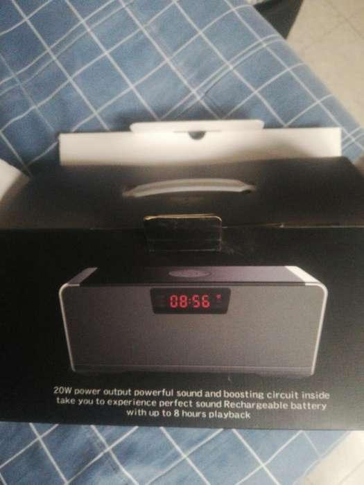 Parlante Hifi Speaker Bluetooth Alarma