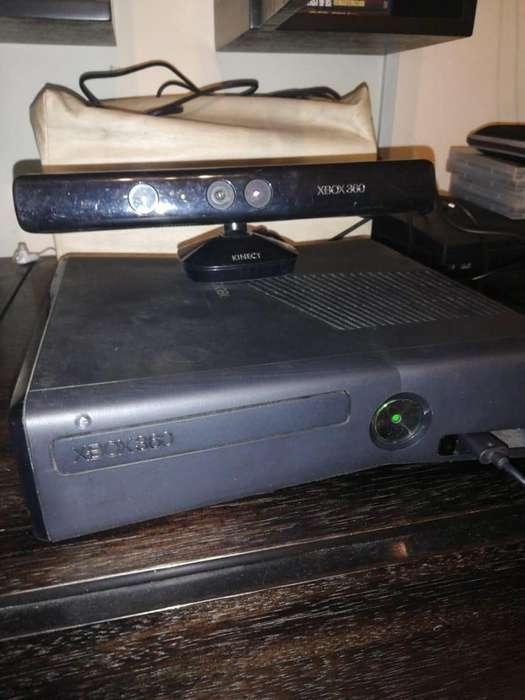 Xbox 360 con Guitar Hero Y Kinect