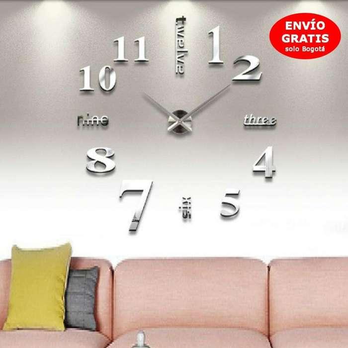 Reloj 3D Funcional Elegante y Moderno de Pared/ Acrílico