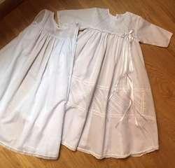 Ajuar - vestido largo bautizo blanco