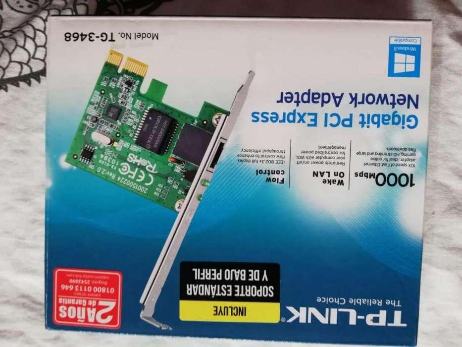Tarjeta De Red Pci Express Gigabit Ethernet Tp-link Tg-3468