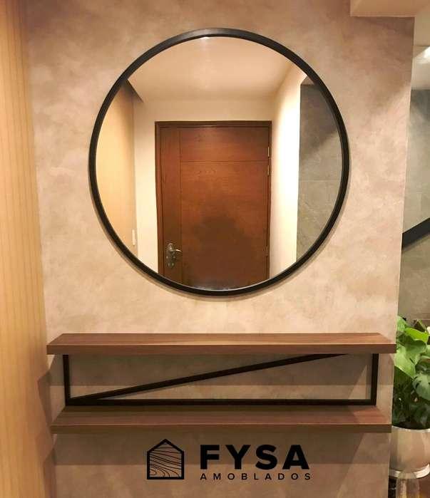Espejo Circular Decorativo para Sala <strong>comedor</strong>.