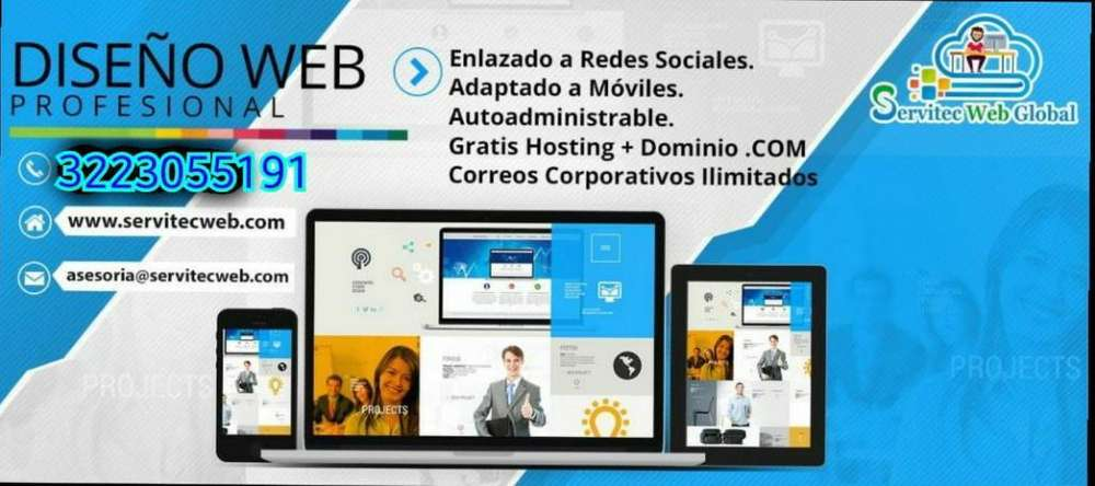 Diseño Web,hosting,dominio,marketing