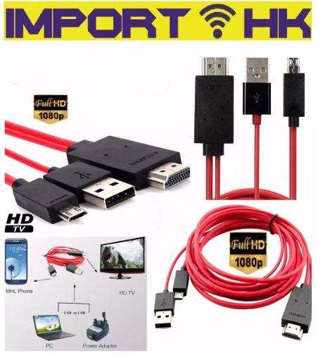 Cable Mhl Hdmi A Microusb 11pines Samsung S3 S4 S5 Note 3 4