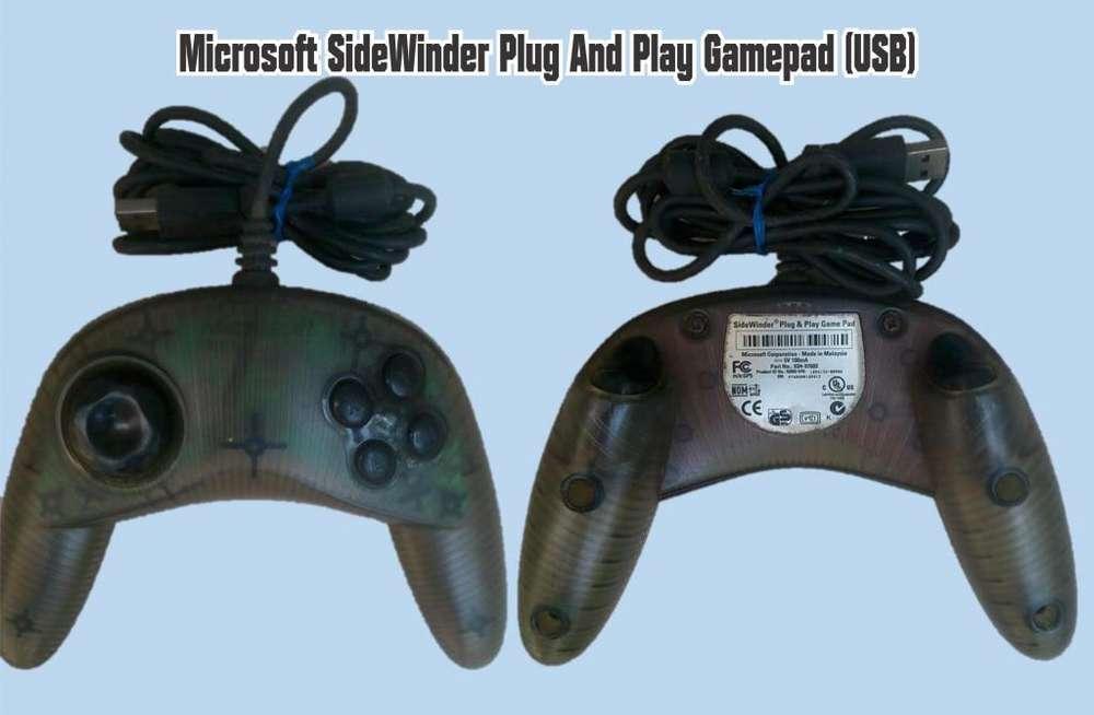 Microsoft Sidewinder Plug & Play Gamepad.