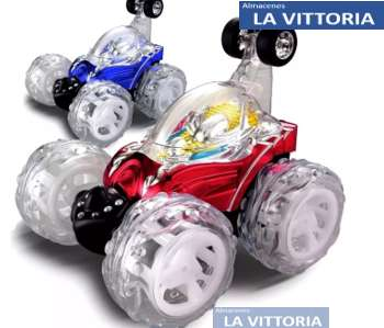 Carro Loco GRANDE Control Remoto Giro 360 Recargable Juguete