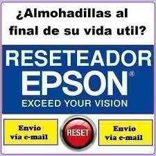RESET ALMOHADILLAS IMPRESORAS EPSON / FIN DE VIDA UTIL EPSON