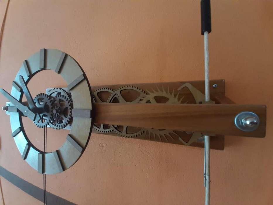 Reloj Pared Pendulo Madera
