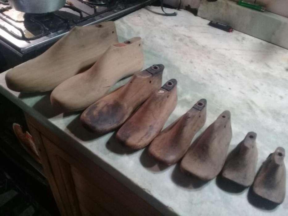 Liquido Juego de Sapatos de Madera Antig