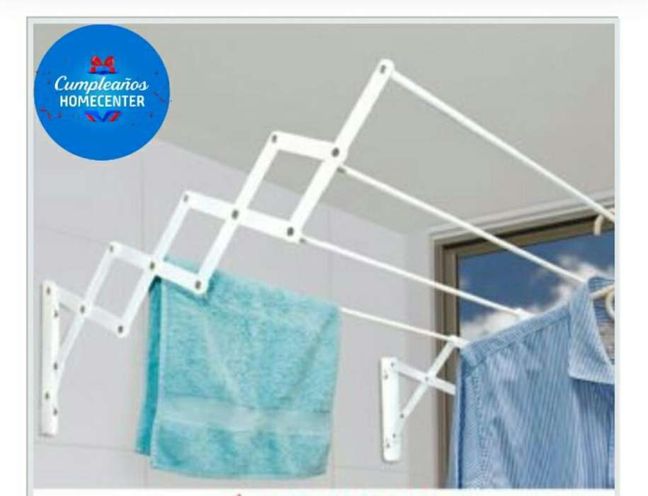 Oferta Tendedero de Pared 4 Tubos, 60 Cm