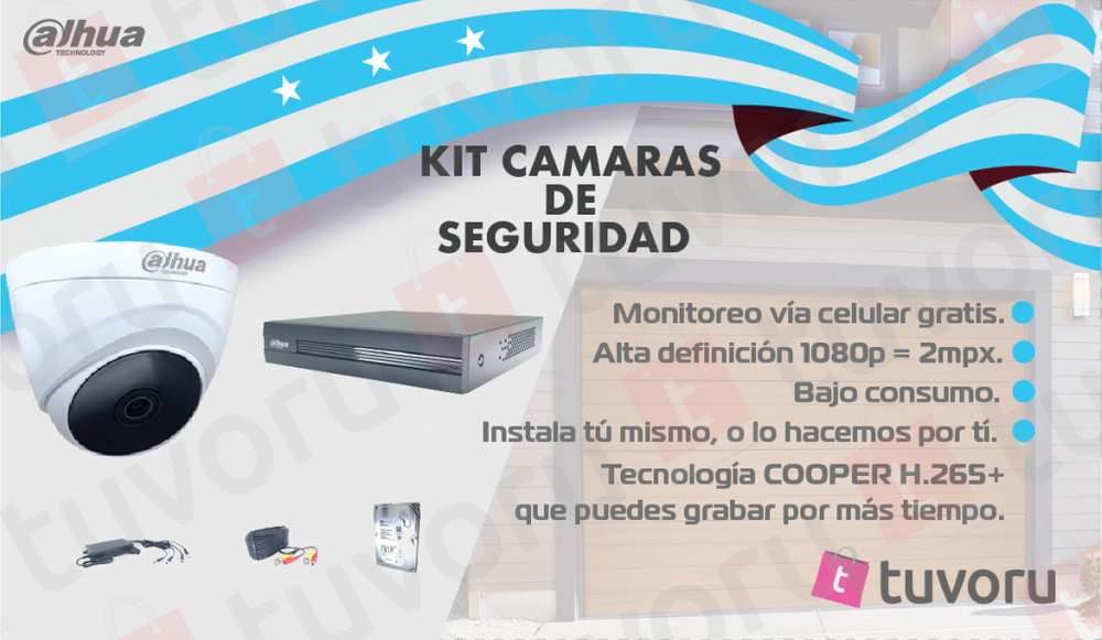 KIT de 4 camaras de seguridad HD 1080p