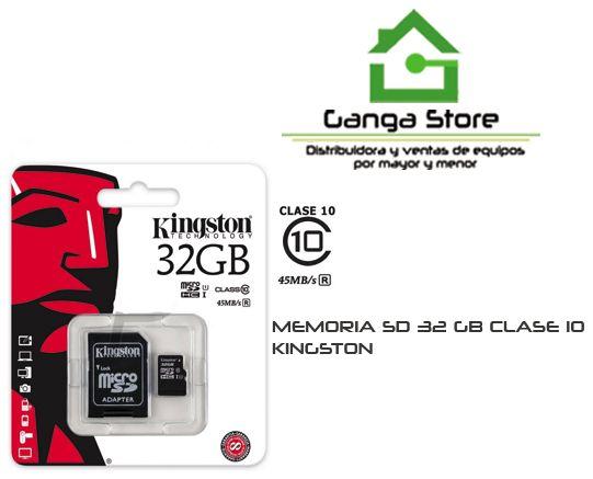 KINGSTON 32 GB CLASE 10