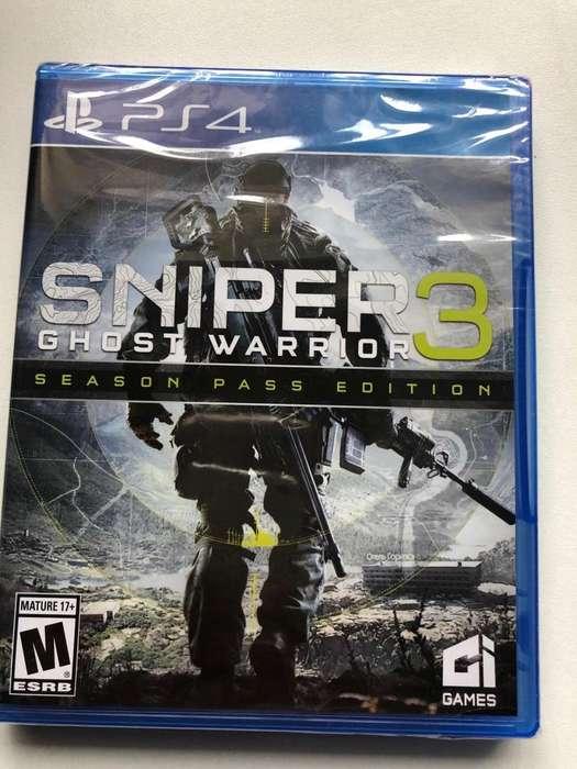 Juego de Ps4 Sniper 3 Ghost Warrior Nuev